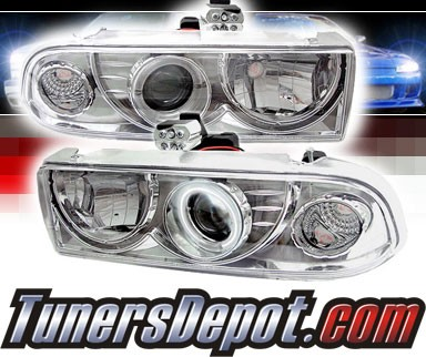 Sonar® CCFL Halo Projector Headlights - 98-04 Chevy S-10 S10
