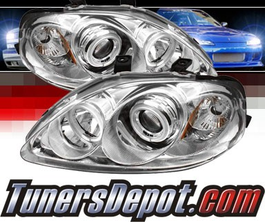 Sonar® CCFL Halo Projector Headlights - 99-00 Honda Civic