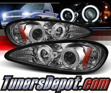 Sonar® CCFL Halo Projector Headlights - 99-05 Pontiac Grand Am