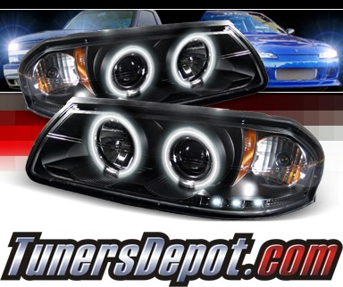Sonar® CCFL Halo Projector Headlights (Black) - 00-05 Chevy Impala