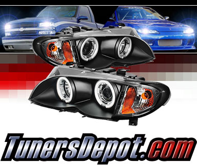 Sonar® CCFL Halo Projector Headlights (Black) - 02-05 BMW 325xi 4dr E46