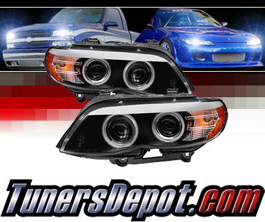 Sonar® CCFL Halo Projector Headlights (Black) - 04-06 BMW X5 E53