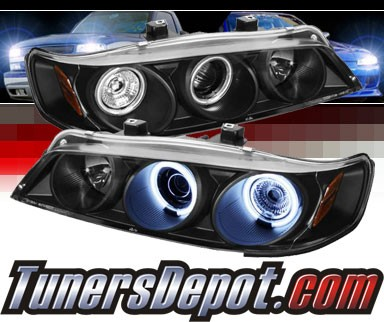 Sonar® CCFL Halo Projector Headlights (Black) - 94-97 Honda Accord