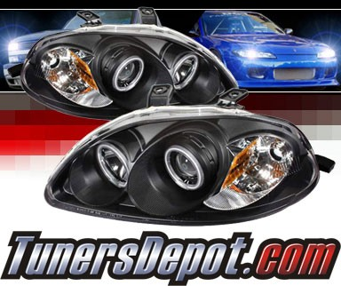 Sonar® CCFL Halo Projector Headlights (Black) - 96-98 Honda Civic