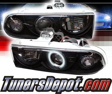 Sonar® CCFL Halo Projector Headlights (Black) - 98-05 Chevy Blazer
