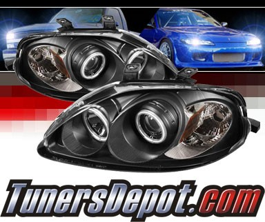 Sonar® CCFL Halo Projector Headlights (Black) - 99-00 Honda Civic