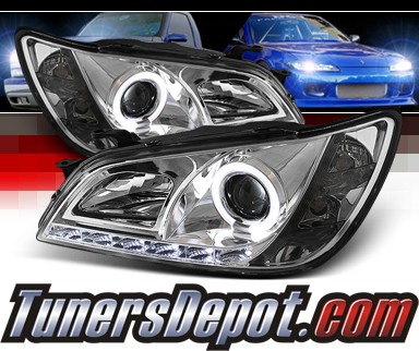 Sonar® DRL LED Halo Projector Headlights - 01-05 Lexus IS300 (w/ OEM HID Only)