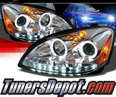 Sonar® DRL LED Halo Projector Headlights - 02-04 Nissan Altima