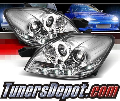 Sonar® DRL LED Halo Projector Headlights - 07-11 Toyota Yaris 4dr