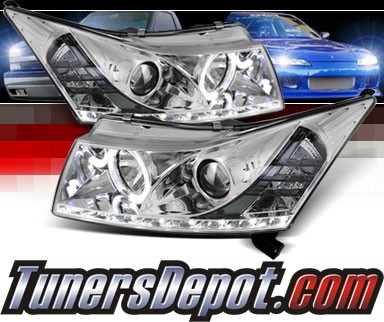 Sonar® DRL LED Halo Projector Headlights - 11-16 Chevy Cruze