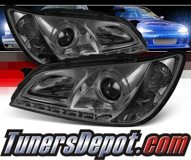 Sonar® DRL LED Halo Projector Headlights (Smoke) - 01-05 Lexus IS300 (w/ OEM HID Only)