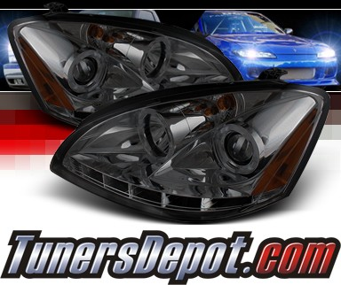 Sonar® DRL LED Halo Projector Headlights (Smoke) - 02-04 Nissan Altima