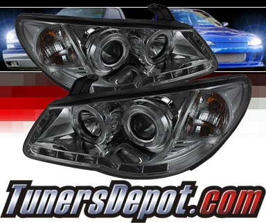 Sonar® DRL LED Halo Projector Headlights (Smoke) - 07-10 Hyundai Elantra