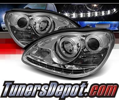 Sonar drl led projector headlights 00 06 mercedes benz for Mercedes benz aftermarket headlights