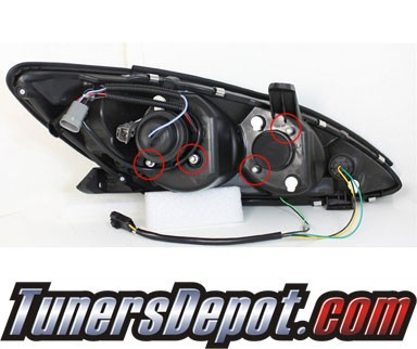 Sonar® DRL LED Projector Headlights - 02-06 Toyota Camry
