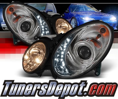 Sonar® DRL LED Projector Headlights - 03-06 Mercedes Benz E320 W211 (w/o Stock HID)