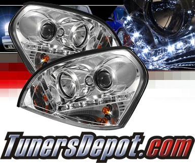 Sonar® DRL LED Projector Headlights - 04-09 Hyundai Tucson