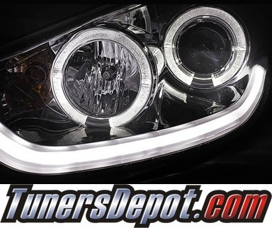 Sonar® DRL LED Projector Headlights - 10-12 Hyundai Tucson