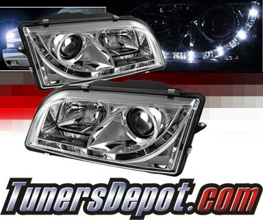 Sonar® DRL LED Projector Headlights - 97-03 Volvo S40