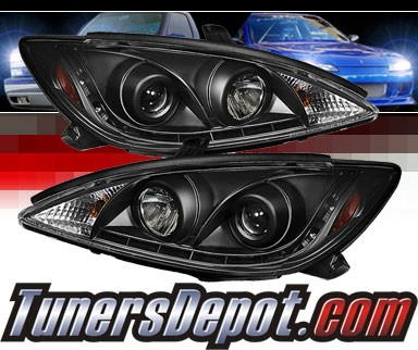 Sonar® DRL LED Projector Headlights (Black) - 02-06 Toyota Camry