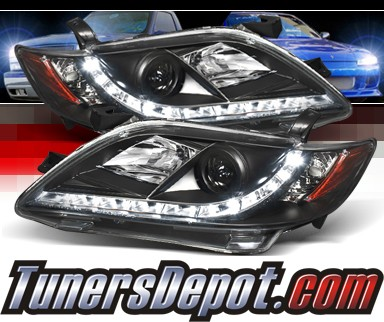 Sonar® DRL LED Projector Headlights (Black) - 07-09 Toyota Camry