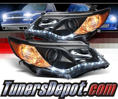 Sonar® DRL LED Projector Headlights (Black) - 12-14 Toyota Camry