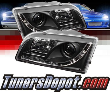 Sonar® DRL LED Projector Headlights (Black) - 97-03 Volvo S40