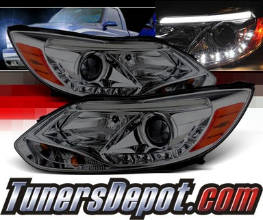 Sonar® DRL LED Projector Headlights (Smoke) - 12-14 Ford Focus