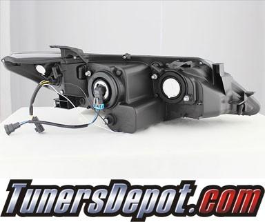 Sonar® DRL LED Projector Headlights (Smoke) - 12-14 Toyota Camry
