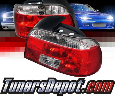 SonarR Euro Tail Lights Red Clear