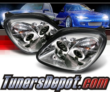 Sonar® Halo Projector Headlights - 01-04 Mercedes-Benz SLK230 R170 SLk