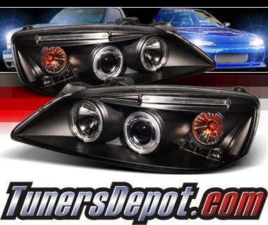 Sonar Halo Projector Headlights Black 05 08 Pontiac G6 Pro Yd Pg605 Hl Bk