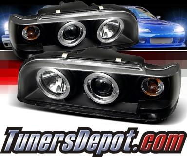 Sonar® Halo Projector Headlights (Black) - 93-97 Volvo 850