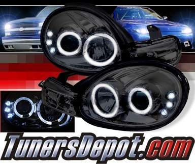 Sonar® Halo Projector Headlights (Smoke) - 00-02 Dodge Neon