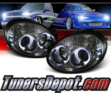 Sonar® Halo Projector Headlights (Smoke) - 03-05 Dodge Neon