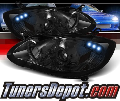 Sonar® Halo Projector Headlights (Smoke) - 03-08 Toyota Corolla