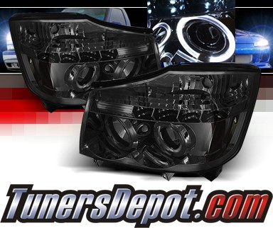 Sonar® Halo Projector Headlights (Smoke) - 04-07 Nissan Armada