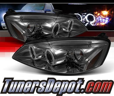 Sonar Halo Projector Headlights Smoke 05 08 Pontiac G6 Pro Yd Pg605 Hl Sm