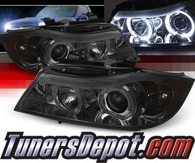 Sonar® Halo Projector Headlights (Smoke) - 06-08 BMW 325i E91 4dr Wagon