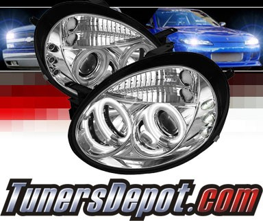 Sonar® LED CCFL Halo Projector Headlights - 03-05 Dodge Neon