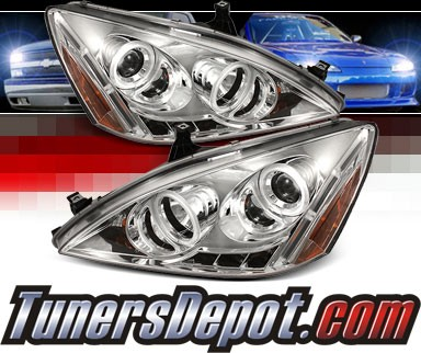 Sonar® LED CCFL Halo Projector Headlights - 03-07 Honda Accord