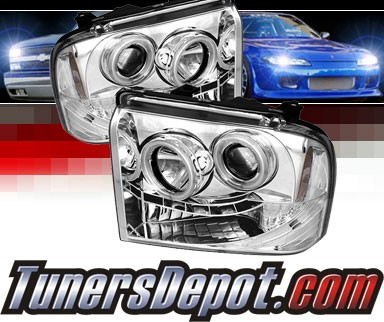 Sonar® LED CCFL Halo Projector Headlights - 05-07 Ford F-450 F450