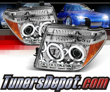 Sonar® LED CCFL Halo Projector Headlights - 05-08 Nissan Frontier