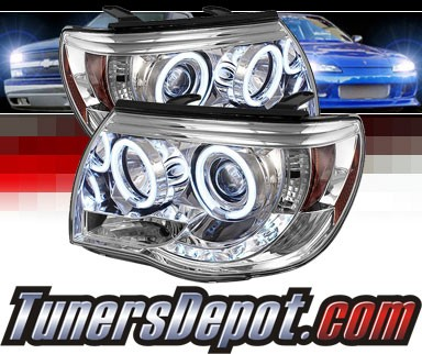 Sonar® LED CCFL Halo Projector Headlights - 05-11 Toyota Tacoma