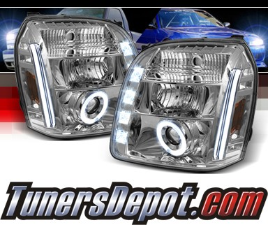 Sonar® LED CCFL Halo Projector Headlights - 07-12 GMC Yukon (Incl. XL/Denali/Hybrid)
