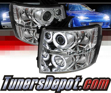Sonar® LED CCFL Halo Projector Headlights - 07-13 Chevy Silverado