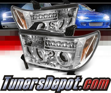 Sonar® LED CCFL Halo Projector Headlights - 07-13 Toyota Tundra