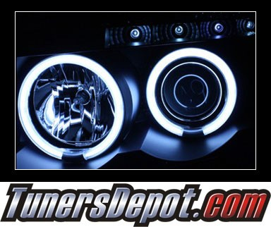 Sonar® LED CCFL Halo Projector Headlights (Black) - 04-07 Nissan Armada