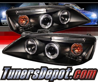 Sonar® LED CCFL Halo Projector Headlights (Black) - 05-08 Pontiac G6 2/4dr