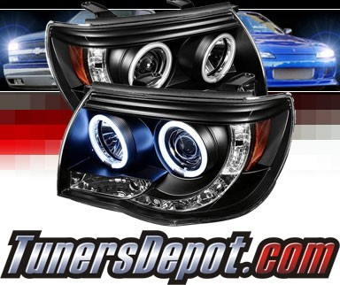 Sonar® LED CCFL Halo Projector Headlights (Black) - 05-11 Toyota Tacoma